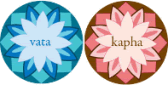 Vata and Kapha doshas / skin types