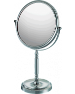 Mirror Image Recessed Base 5x-1x Make Up Mirror - 2 Finishes