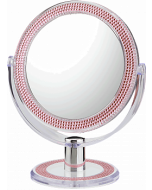 First Impressions 10x/1x First Impressions Pink Bling Vanity Mirror