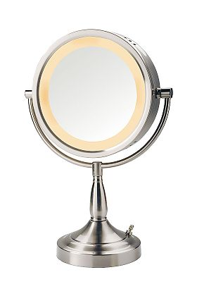 Jerdon 7x/1x Reversible Halo-Lighted Make Up Mirror