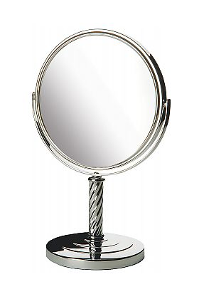 Jerdon 5x/1x Reversible Free Standing Make Up Mirror  - 3 Finishes