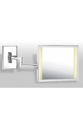 Miroir Brot Azur LM BD Double-Arm 3x Hardwired LED Makeup Mirror - Polished Nickel