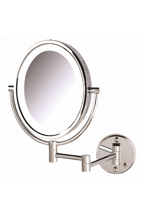 Jerdon Oval 5x/1x Reversible Plug-In Wall-Mounted Makeup Mirror