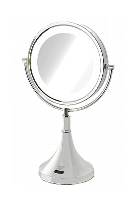 Sharper Image 8x/1x Reversible Rechargeable LED Vanity Mirror Charges by AC or USB