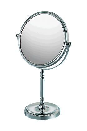 CLOSEOUT! Mirror Image Recessed Base 5x-1x Vanity Mirror - 2 Finishes