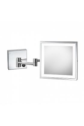 Electric Mirror Elixir Hardwired Square LED 5x Makeup Mirror