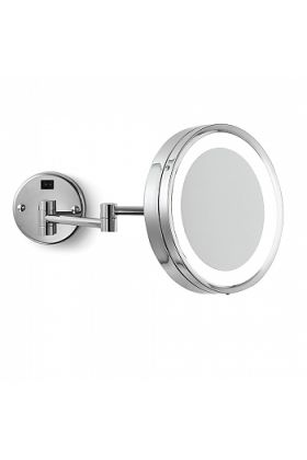 Electric Mirror Blush Hardwired 5x Brushed Nickel Makeup Mirror