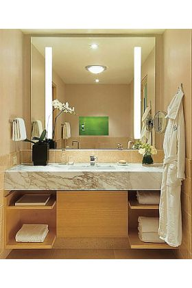 """Electric Mirror Fusion TV Lighted Mirror with 21.5"""" HDTV. It """"Disappears"""" When Turned Off - 3 sizes"""