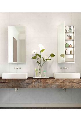 Electric Mirror Simplicity Mirrored Cabinet with Lighted Interior with GFCI Outlet and 4 USB Ports