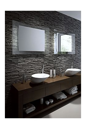 Aamsco MISTER Backlit Mirror is LED Illuminated From the Rear on Architecturally Curved Glass