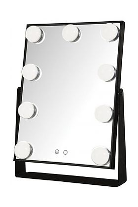 Jerdon Hollywood Style Makeup Mirror has Controls on the Face of the Mirror