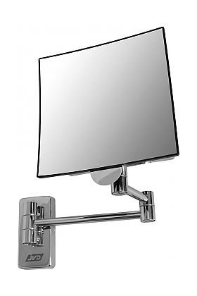 JVD Eclips Tubular Arm 3x Square Wall-Mount Vanity Mirror -  Polished Chrome