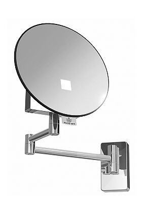 JVD Eclips Tubular Arm 3x LED Spot-Lighted Round Vanity Mirror, Lithium Ion Battery, Polished Chrome