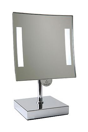 JVD Galaxy Countertop 3x LED Makeup Mirror Lighted at Both Edges - Lithium Ion Battery Powered
