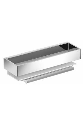 """Keuco Edition 11 Shower Basket with Built-In """"Secret"""" Squeegee, 3 Finishes"""