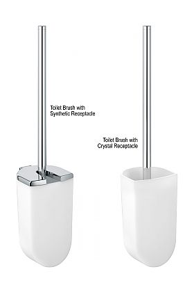 Keuco Elegance Toilet Brush Sets - with Crystal or Synthetic Receptacles