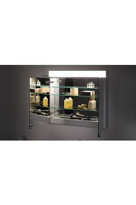 Keuco Edition 400 Lghted, Mirrored Bathroom Cabinet - Mirrored Inside and Outside