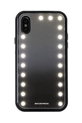 Brightmond iPhone XS Max Case - Mirrored, LED-Lighted, and Protective