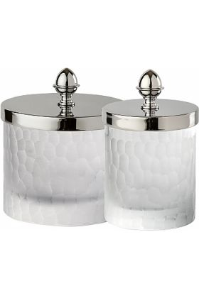 Cristal&Bronze Nid d'abeilles (Honeycomb) Q-Tip Holders in 2 Sizes and 27 Finishes