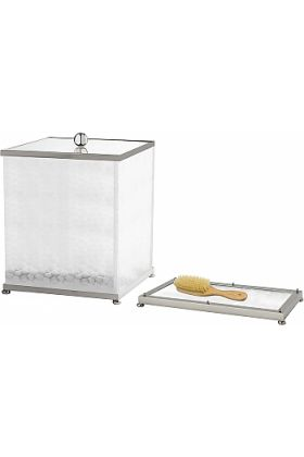 Cristal&Bronze Nid d'abeilles (Honeycomb) Comb & Brush Tray and Storage Bins - 27 Finishes