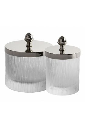 Cristal&Bronze Bambou Q-Tip Holders in 2 Sizes and 27 Finishes