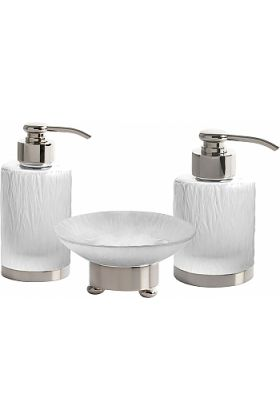 Cristal&Bronze Bambou Soap Dispensers and Soap Dish -27 Finishes