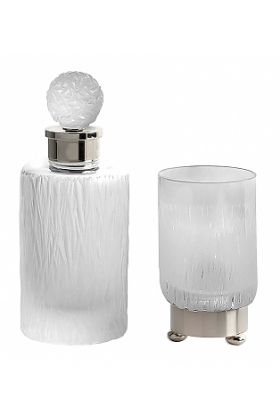 Cristal&Bronze Bambou Tumbler and Perfume Bottle by Frank Benito - 27 Finishes