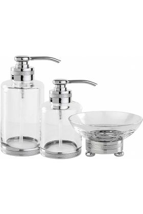 """Cristal&Bronze Cristallin """"cesele"""" Soap Dispensers and Soap Dish, each in 27 Finishes"""