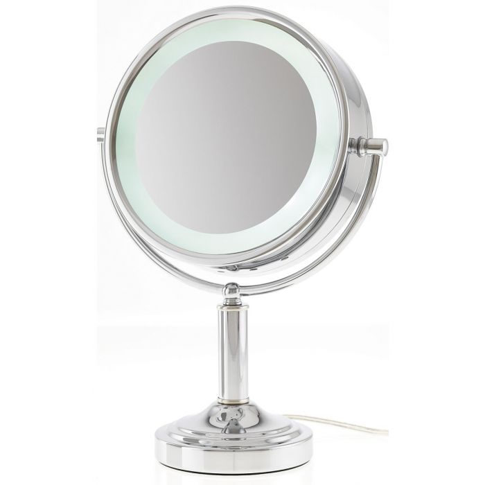 15x/1x LED-Lighted Extreme Magnification Reversible Vanity Mirror