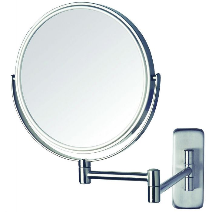 Jerdon Reversible 5x/1x Wall-Mount Makeup Mirror - 3 Finishes