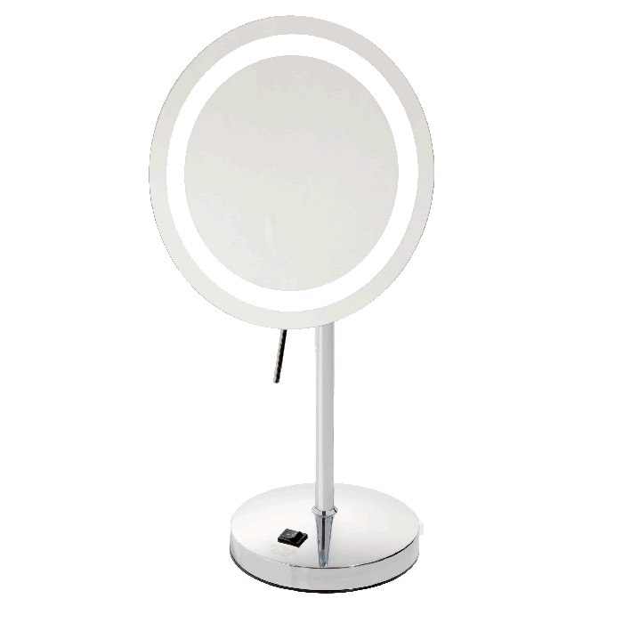Sharper Image 8x LED Halo-Lighted Vanity Mirror - Chrome or Nickel