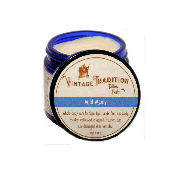 Mild Manly Tallow Balm by Vintage Tradition - 2 oz. or 9 oz.