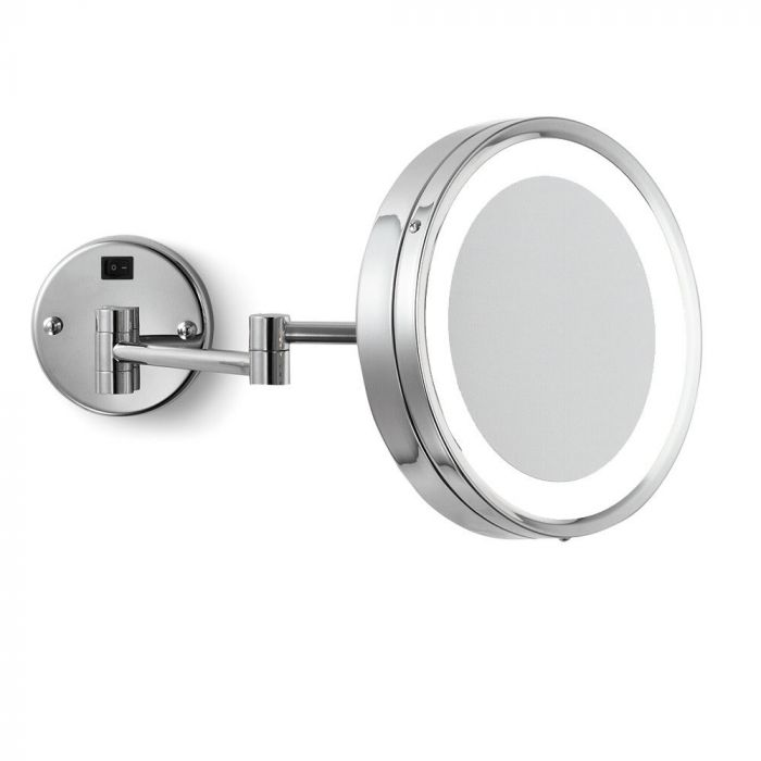 Electric Mirror Hardwired 5x Polished Chrome LED Makeup Mirror
