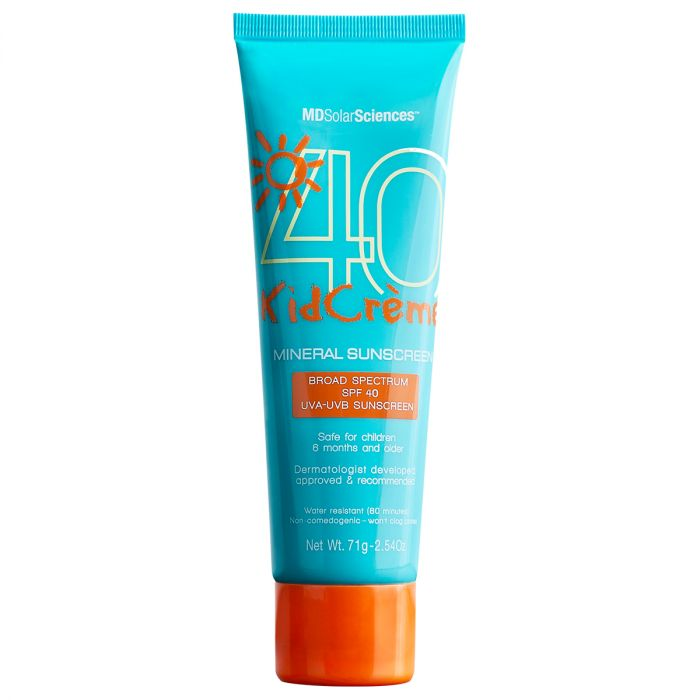 MDSolarSciences Mineral KidCreme is SPF 40 Broad-Spectrum UVA-UVB, Gentle and Creamy