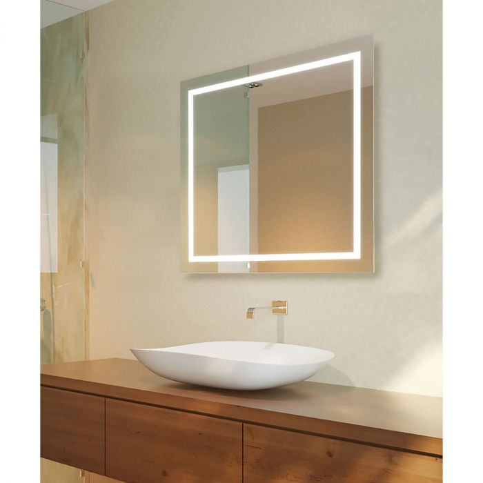 Cordova Unity Backlit Natural-Light LED Mirror with 1-inch Frosted Continuousl Band - 3 Sizes