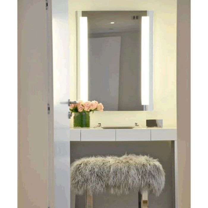 Electric Mirror Fusion +AVA Backlit Adjustable-Light LED Mirror with Clean, Strong Lines - 6 Sizes