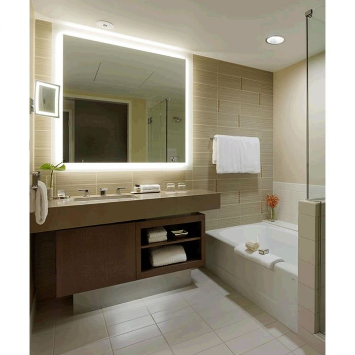 Electric Mirror Silhouette +Keen Auto Dimming Back-Lighted LED Mirror Floats