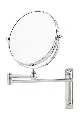 Danielle Creations Height-Adjustable10x Wall-Mount Makeup Mirror