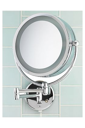 10x Reversible Dual-Lighted Plug-In Makeup Mirror D123