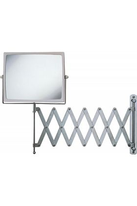 "Jerdon Style Super-Long 30"" Pantograph 7x/1x Wall-Mount Makeup Mirror"