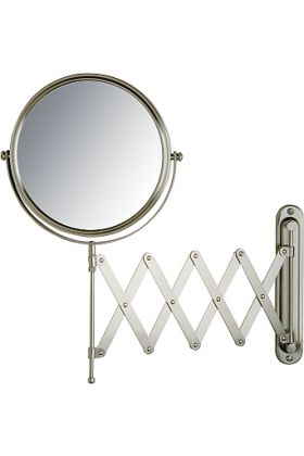 Jerdon Style Pantograph 7x/1x Wall-Mount Makeup Mirror - 2 Finishes