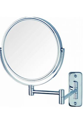 Jerdon Style Reversible 8x/1x Wall-Mount Makeup Mirror - 2 Finishes