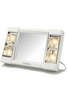 Jerdon Style Lighted 3x/1x Home and Travel Vanity Mirror