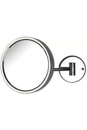 Jerdon Style Reverssible Single-Arm Makeup Mirror, 5x/1x, Chrome Finish