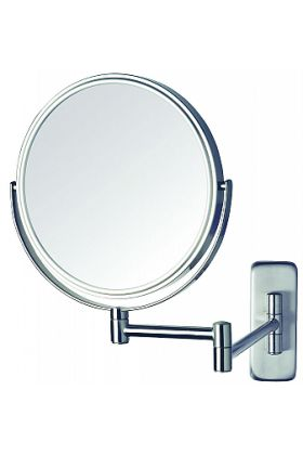 Jerdon Style Reversible 5x/1x Wall-Mount Makeup Mirror - 3 Finishes