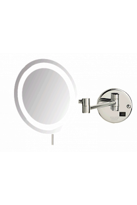 Sharper Image 8x Plug-In LED Makeup Mirror - Chrome or Nickel