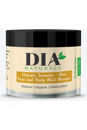 Organic Healing Turmeric-Aloe Face & Body Mud Masque Powder by Dia Naturals