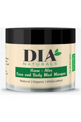 Organic Neem - Aloe Face and Body Mud Masque Powder by Dia Naturals 3.5 oz.
