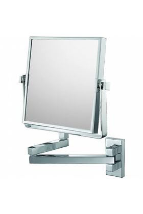 Mirror Image Square 3x/1x Makeup Mirror - Polished Chrome or Brushed Nickel
