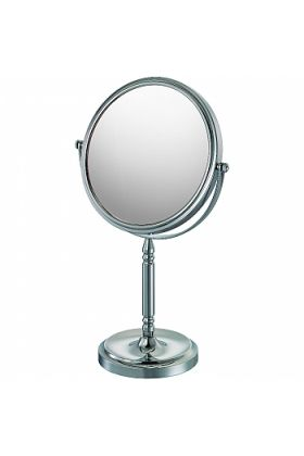 CLOSEOUT!  Mirror Image 10x-1x  Recessed Base Reversible Polished Chrome Vanity Mirror 86640